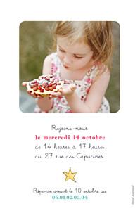 Carte d'anniversaire Fée rose