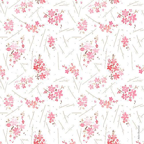 Faire-part de naissance Fleurs des champs photo rose - Page 4