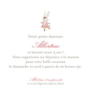 Carte d'anniversaire Pirouette photo rose