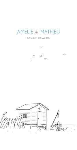 Menu de mariage Promesse sur le sable (4 pages) blanc