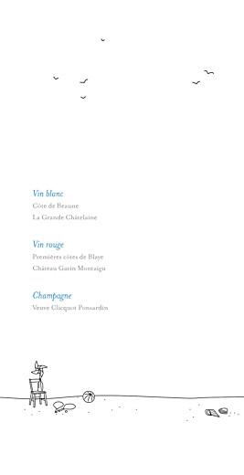 Menu de mariage Promesse sur le sable (4 pages) blanc - Page 2