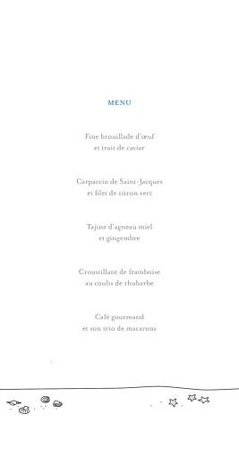 Menu de mariage Promesse sur le sable (4 pages) blanc - Page 3