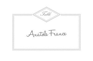 Marque-table mariage Monogramme gris foncé