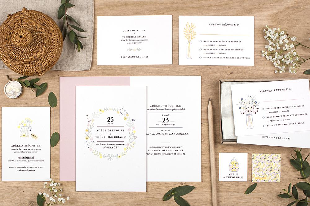 Bien-aimé Faire-part de mariage Instant fleuri - Atelier Rosemood RV16