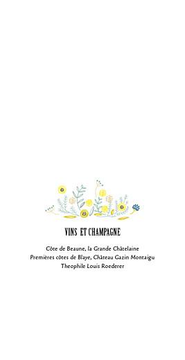 Menu de mariage Instant fleuri (4 pages) rose - Page 2
