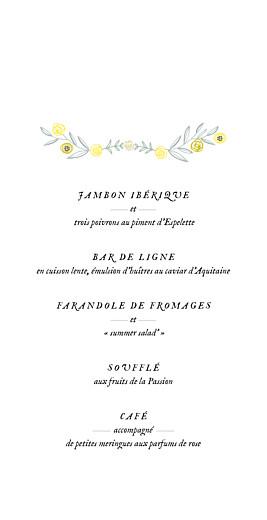 Menu de mariage Instant fleuri (4 pages) rose - Page 3