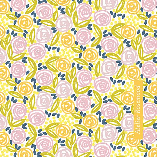 Etiquette de mariage Instant fleuri blanc &  jaune