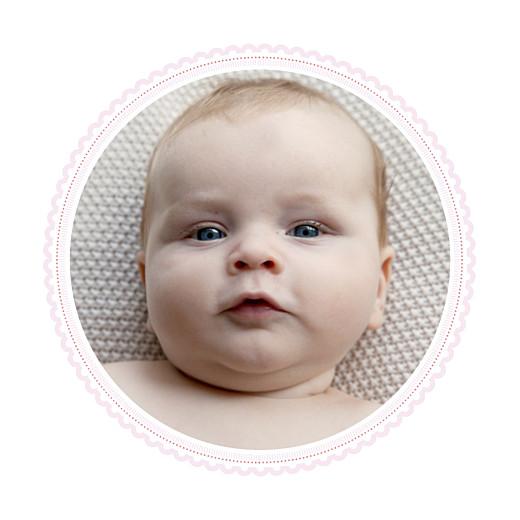 Faire-part de naissance Petit versailles (triptyque) rose