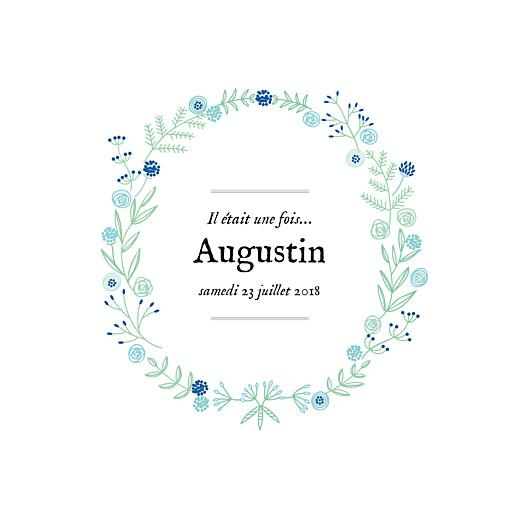 Faire-part de naissance Douceur champêtre (triptyque) bleu