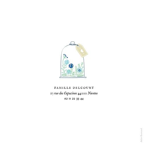 Faire-part de naissance Douceur champêtre (triptyque) bleu - Page 3
