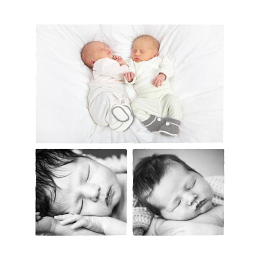 Faire-part de naissance Marinière jumeaux (3 photos) bleu - Page 2
