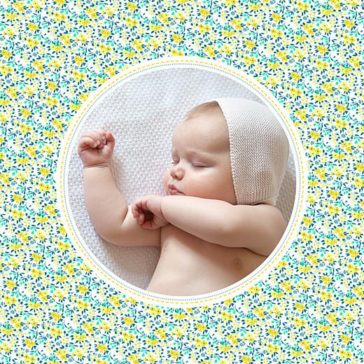 Faire-part de naissance Liberty écusson photo jaune & vert - Page 2