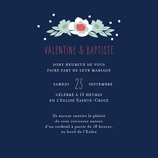 Faire-part de mariage Eden (4 pages) bleu nuit - Page 3