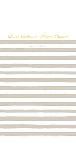 Menu de mariage À pieds joints (4 pages) taupe