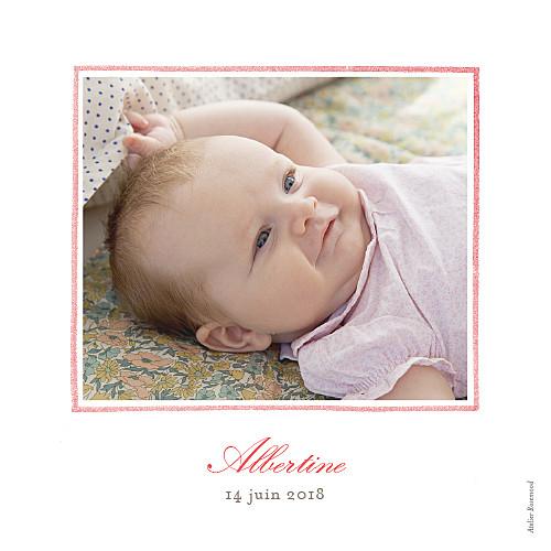 Faire-part de naissance Pirouette photo rose - Page 2