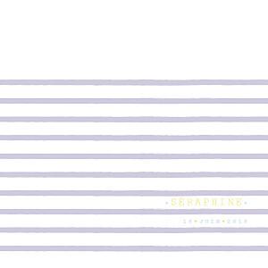 Faire-part de naissance violet marinière photo parme