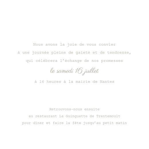 Faire-part de mariage À pieds joints (4 pages) couple parapluie - Page 3