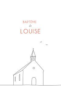 Faire-part de baptême marion bizet promesse blanc