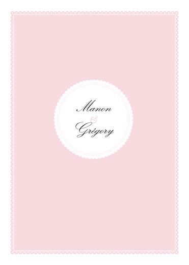 Livret de messe mariage Gourmand rose