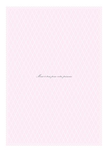 Livret de messe mariage Gourmand raffiné rose - Page 4