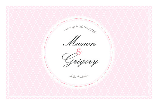 Marque-table mariage Gourmand raffiné rose - Page 2