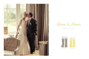 Carte de remerciement mariage À pieds joints couple