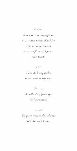 Menu de mariage Grâce (4 pages) blanc bleu - Page 3