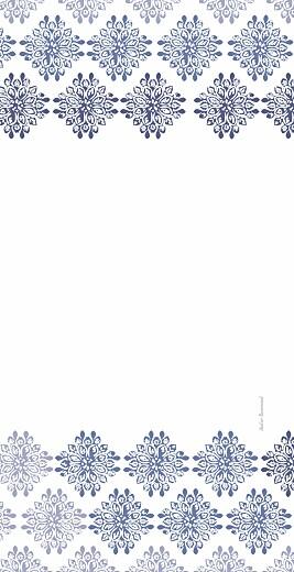 Menu de mariage Grâce (4 pages) blanc bleu - Page 4