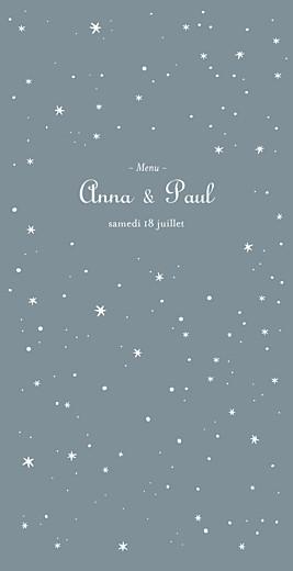 Menu de mariage Étoile (4 pages) gris bleu
