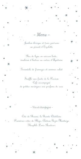 Menu de mariage Étoile (4 pages) gris bleu - Page 3