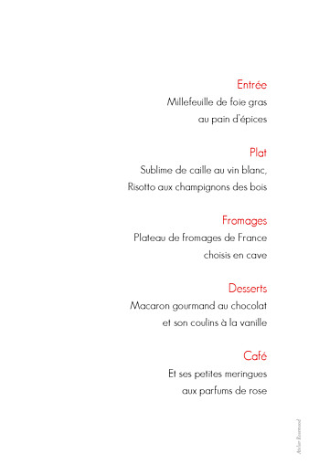 Menu de baptême Contemporain 3 photos blanc - Page 2