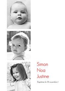 Livret de messe jumeaux contemporain 3 photos blanc
