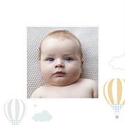 Faire-part de naissance Dans le ciel (triptyque) bleu page 4