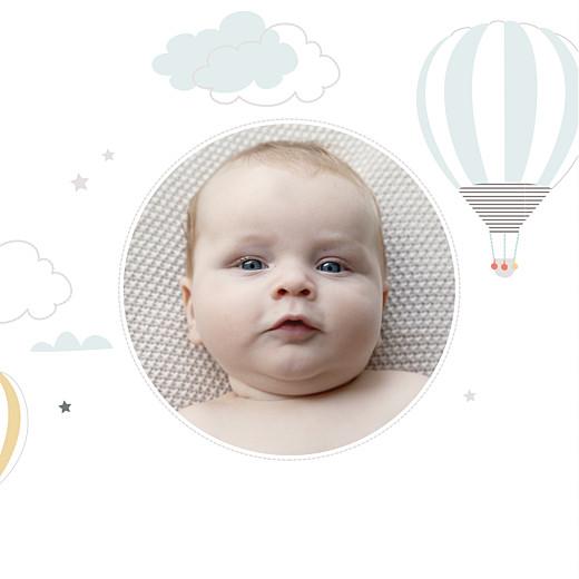 Faire-part de naissance Dans le ciel (triptyque) bleu