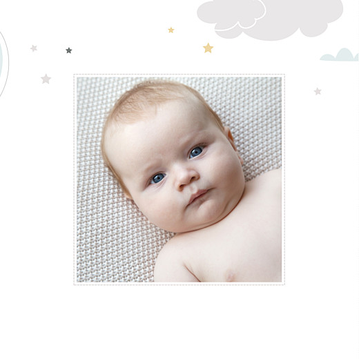 Faire-part de naissance Dans le ciel (triptyque) bleu - Page 6