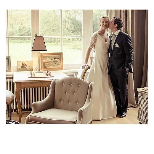 Carte de remerciement mariage Moderne photos (triptyque) blanc - Page 2