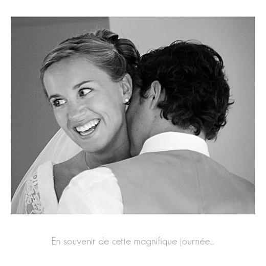 Carte de remerciement mariage Moderne photos (triptyque) blanc - Page 5