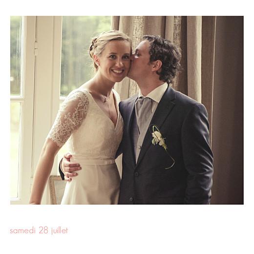 Carte de remerciement mariage Moderne photos (triptyque) blanc - Page 6