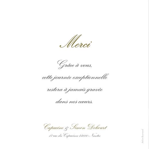 Carte de remerciement mariage Plein la vue (triptyque) blanc - Page 2