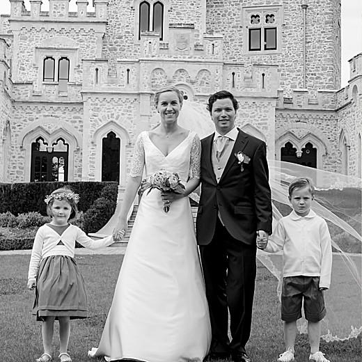 Carte de remerciement mariage Plein la vue (triptyque) blanc - Page 5