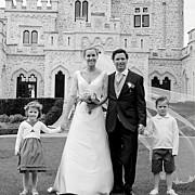 Carte de remerciement mariage Plein la vue (triptyque) blanc page 5