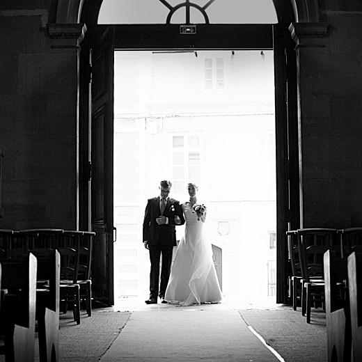 Carte de remerciement mariage Plein la vue (triptyque) blanc
