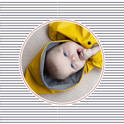 Faire-part de naissance Petit matelot (triptyque) bleu & rouge - Page 3