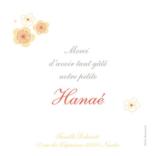 Carte de remerciement Cerisiers en fleurs jaune - Page 2