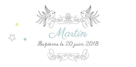 Marque-place Baptême Étoiles bleu - Page 4