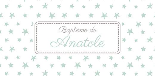 Marque-place Baptême Nuit étoilée jade - Page 4