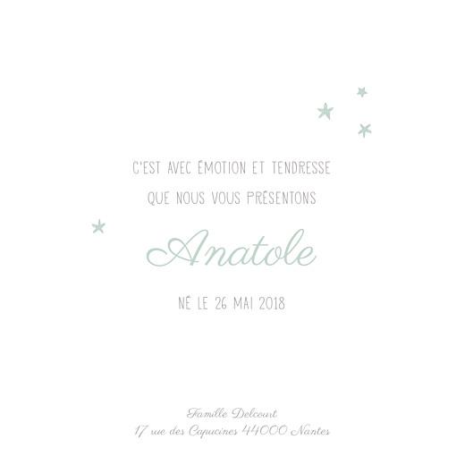 Faire-part de naissance Nuit étoilée (triptyque) jade