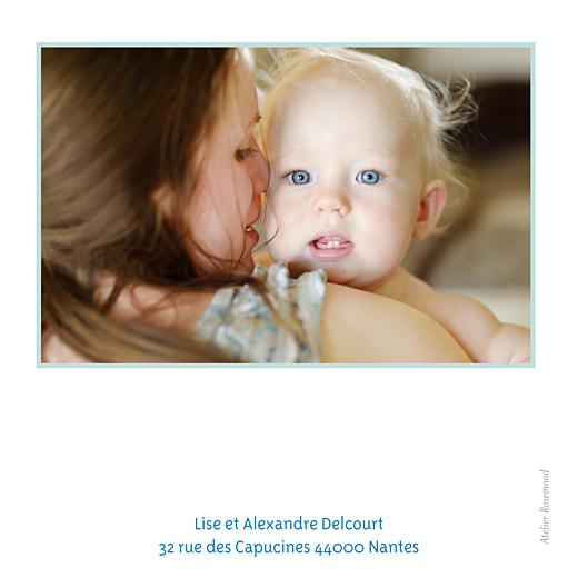 Carte de remerciement Merci triangles photo bleu foncé - Page 2
