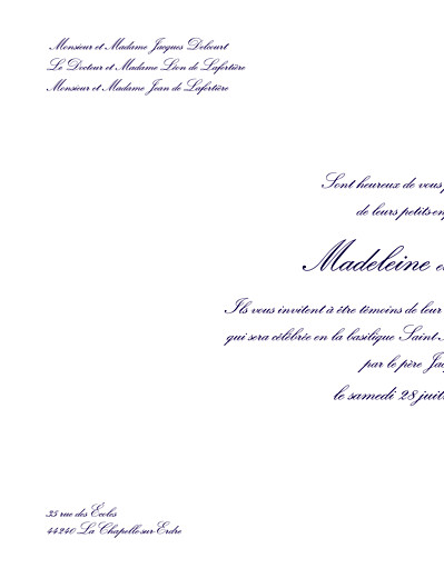 Faire-part de mariage Grand élégant blanc - Page 2