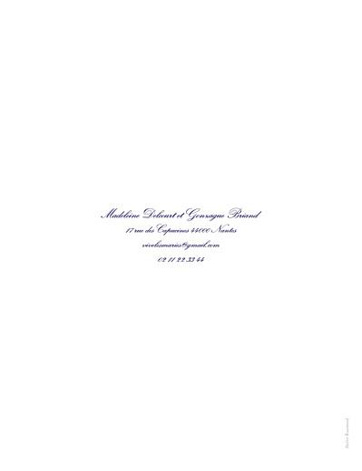 Faire-part de mariage Grand élégant blanc - Page 4